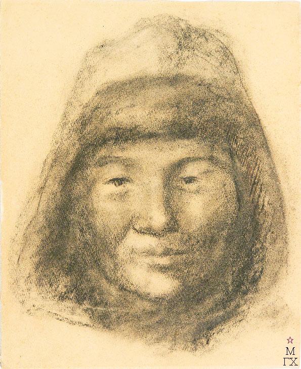 Д.В. Мирлас. Картина : Портрет казахского мальчика из Караганды