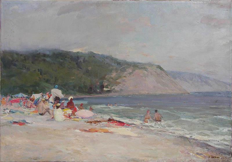 Художник В.А. Нечаева. Картина, живопись : На пляже.