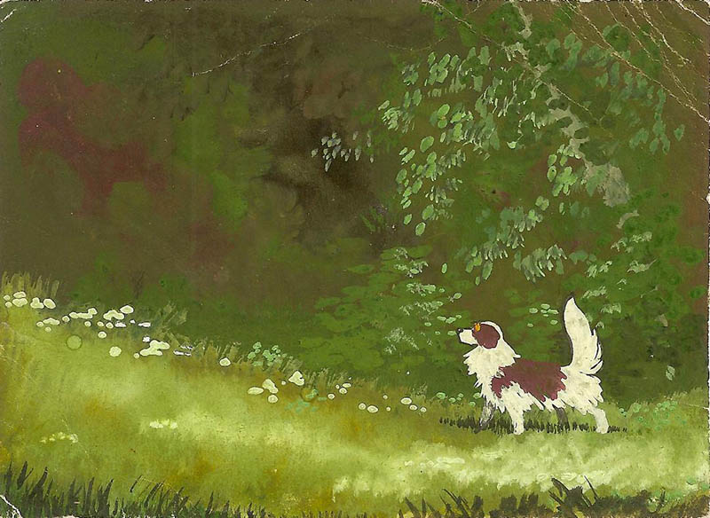 Художник В.А. Нечаева. Картина, живопись : В лесу.