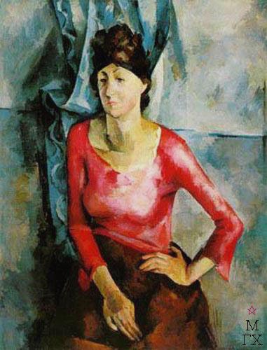 А. А. Осмеркин. Портрет Е. Т. Барковой. 1921. ГРМ.
