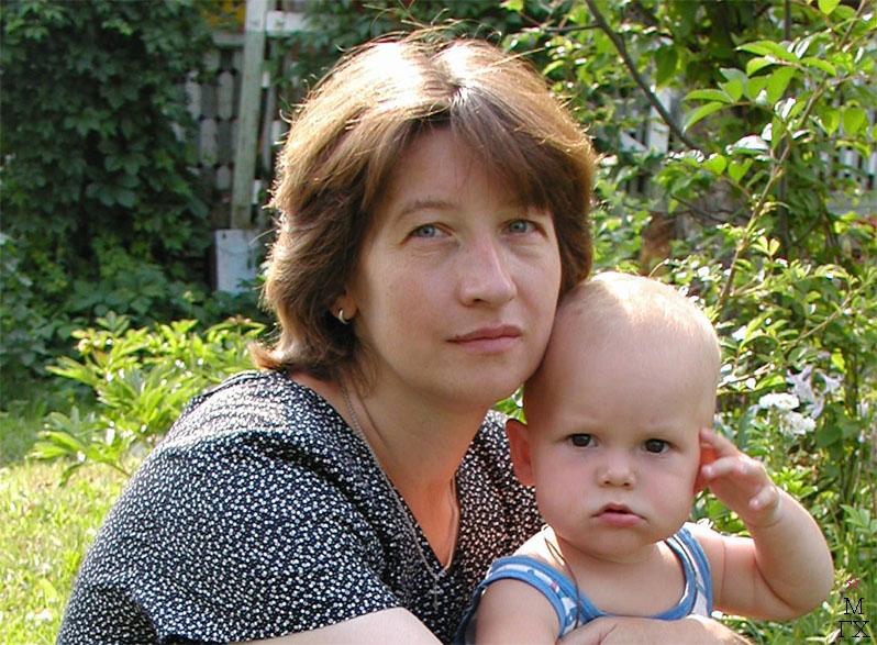 Ирина Попкова с сыном