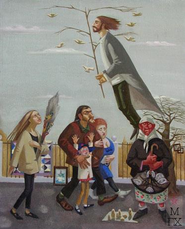 И.В. Попкова. Мастер Леонид. 1998. 60х50