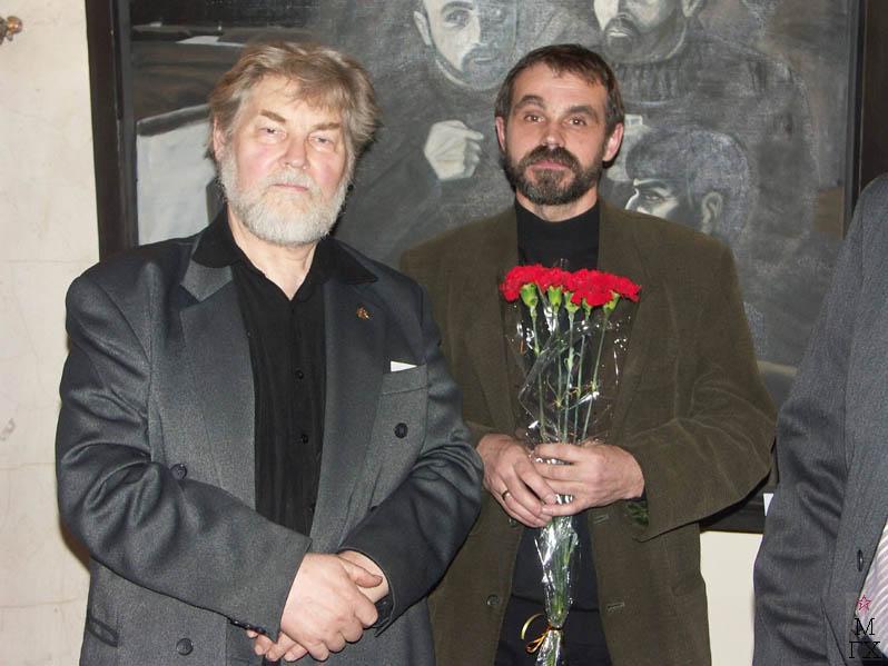 И. Обросов и Ю. Попков на конкурсе «Премии В. Попкова».