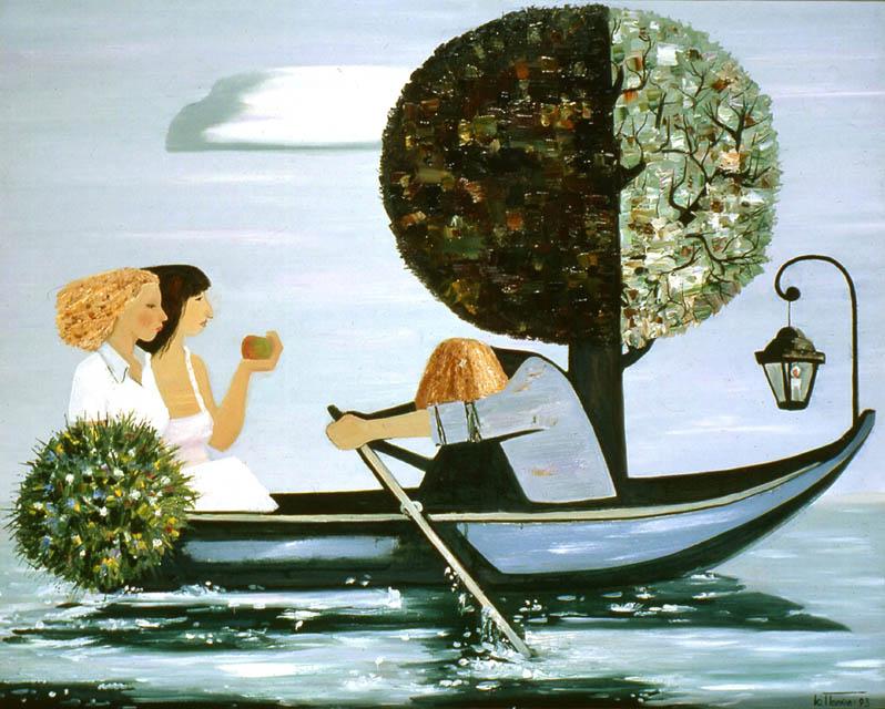Ю.Н. Попков. Картина : Гребец. 1993 г. Х., м. 50x60.