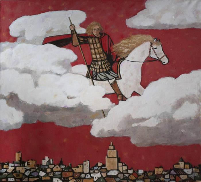 Ю.Н. Попков. Картина : Георгий Победоносец. 2012 г. Х., м. 90х100.