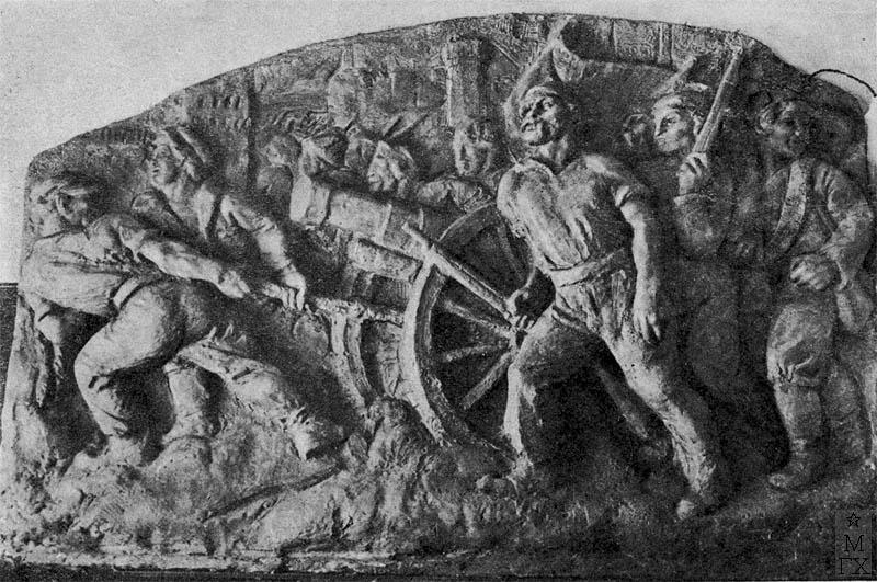 С.А. Пожильцов. Защита рабочими Сталинграда.