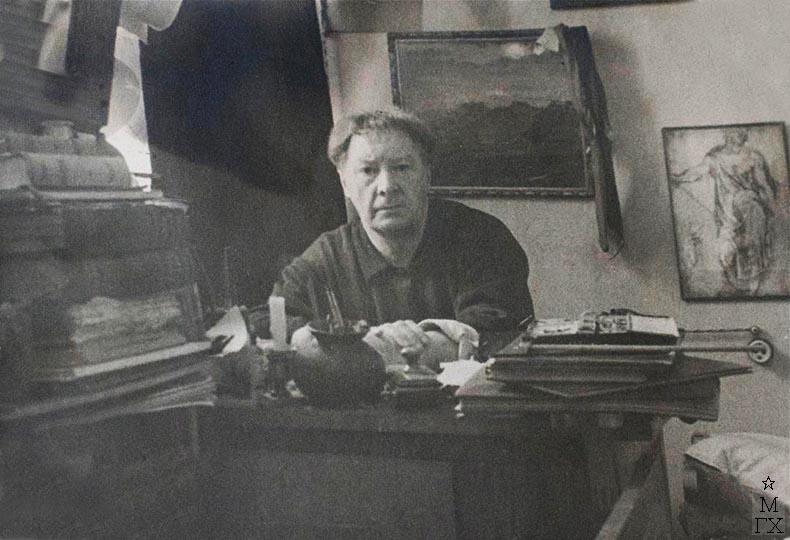 В.С. Пшеничников в мастерской на Масловке.