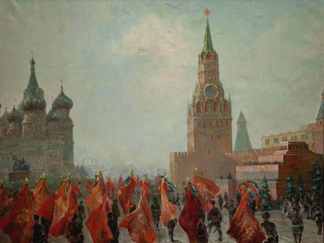 В.С. Пшеничников. Картина : Парад победы 1946 года. Х.М. 138,5х184,2