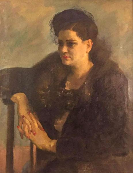 Радоман И. В. Портрет Розы Мандельбраут. 1946, Х.М.