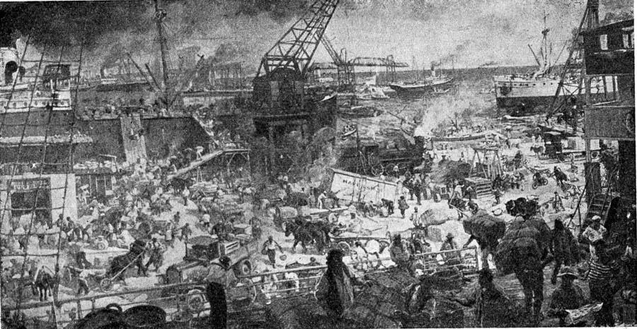 Г.К. Савицкий. Картина : Советский порт