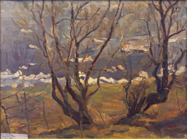Л.Л. Скубко-Карпас. Картина : Ранняя весна. 1952.
