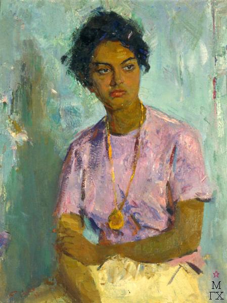 С.М. Скубко. Картина : Студентка из Рио Негробразилия. 1963.