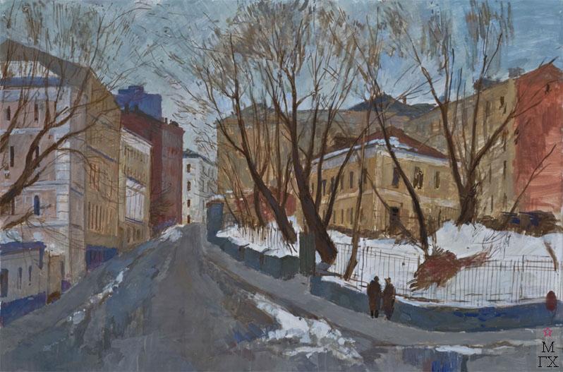 Соколов Игорь Яковлевич. Картина : Старосадский переулок, 1989, х., масло, 90x80