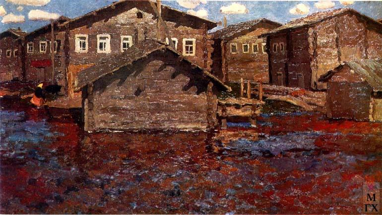 В. Ф. Стожаров. Муфтюга. Большая вода. 1966. Х.М.