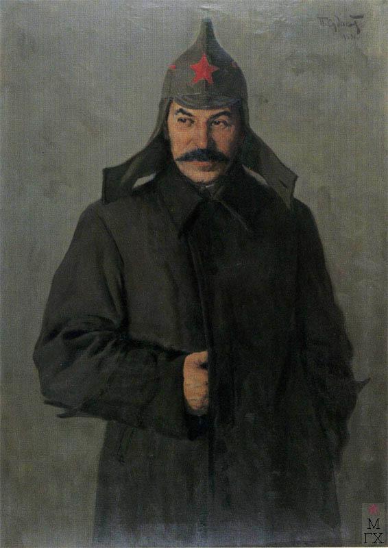 П.Ф. Судаков. И.В. Сталин. 1919 год. 1953. Х.М. 120x85. Гос. Центральный музей совр. истории России