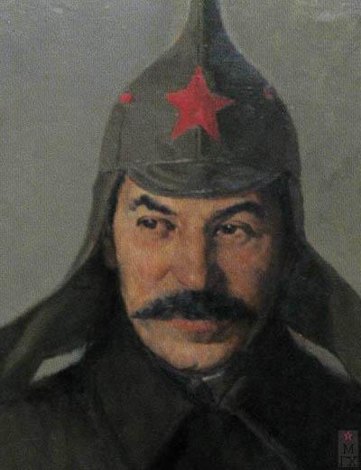 П.Ф. Судаков. И.В. Сталин. 1919 год. (фрагмент). 1953. Х.М. 120x85. Гос. Центральный музей совр. истории России