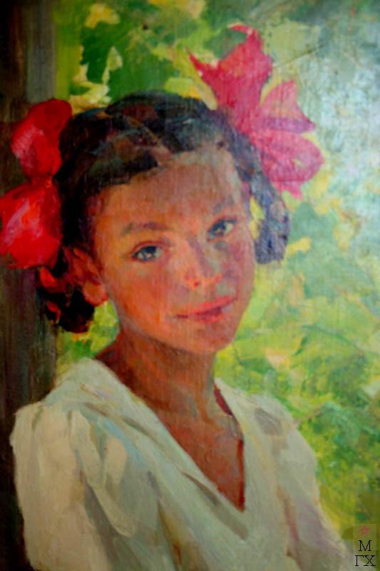 Л.З. Танклевский. Картина : Портрет дочери Наташи. 1953.
