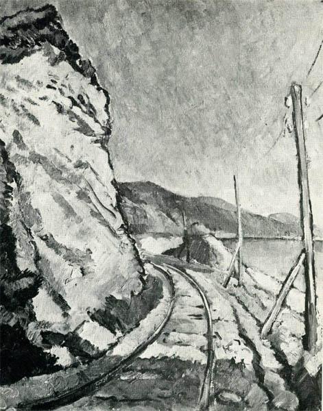 Танклевский. Картина : Дорога в Сочи. 1928.