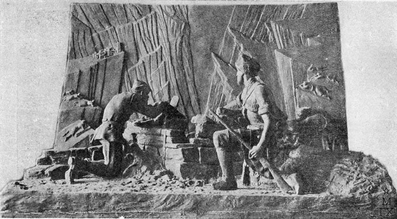 С.Д. Тавасиев. Защита Дигорского ущелья в 1919 году керменистами. 1932.