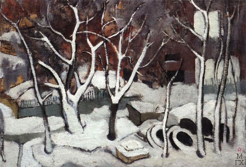 Н.И.Терещенко. Картина : Масловка зимой. 1965. Х.М. 65х93.