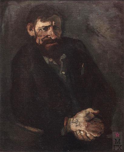 Н.И.Терещенко. Картина : Портрет художника Потешкина А.П. 1978. Х.М. 80х65