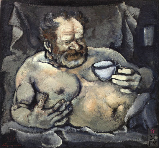 Н.И.Терещенко. Картина : Вакх (портрет художника Бабицына В.А.). Х.М. 95х100