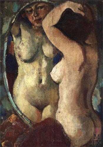 Н.И.Терещенко. Картина : В зеркале. 1992. Х.М. 80х60