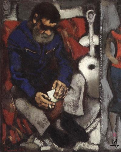 Н.И.Терещенко. Картина : Портрет художника Суханова А.Ф. 1980. Х.М. 100х90