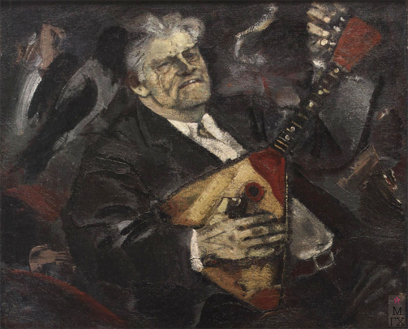 Н.И.Терещенко. Картина : Портрет художника Морозова А.И. 1977. Х.М. 84х100.