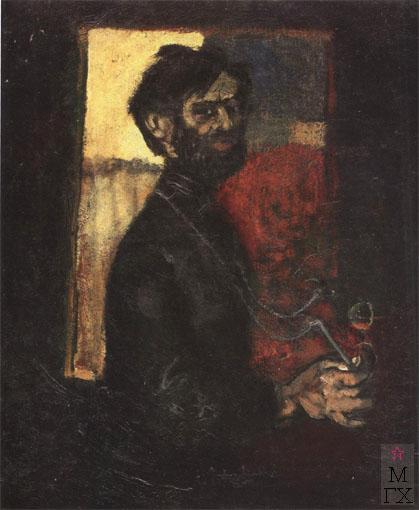 Н.И.Терещенко. Картина : Серж (портрет художника Тутунова С.А.). 1976. К.М. 99х81