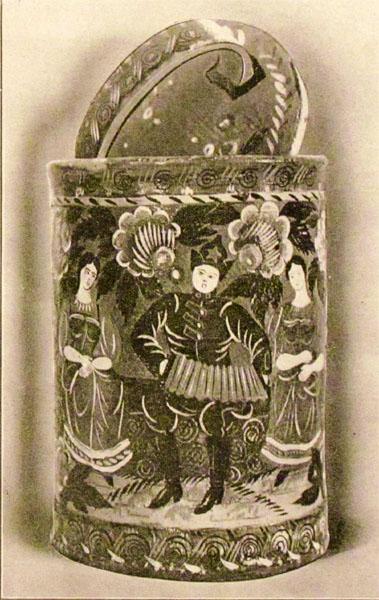 Н.Г. Тихонов. Картина : Бурак с росписью. 1925.