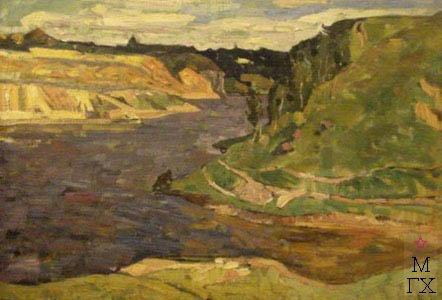 Б.И. Вакс. Картина :  Река Тетерев, х.м.50х70