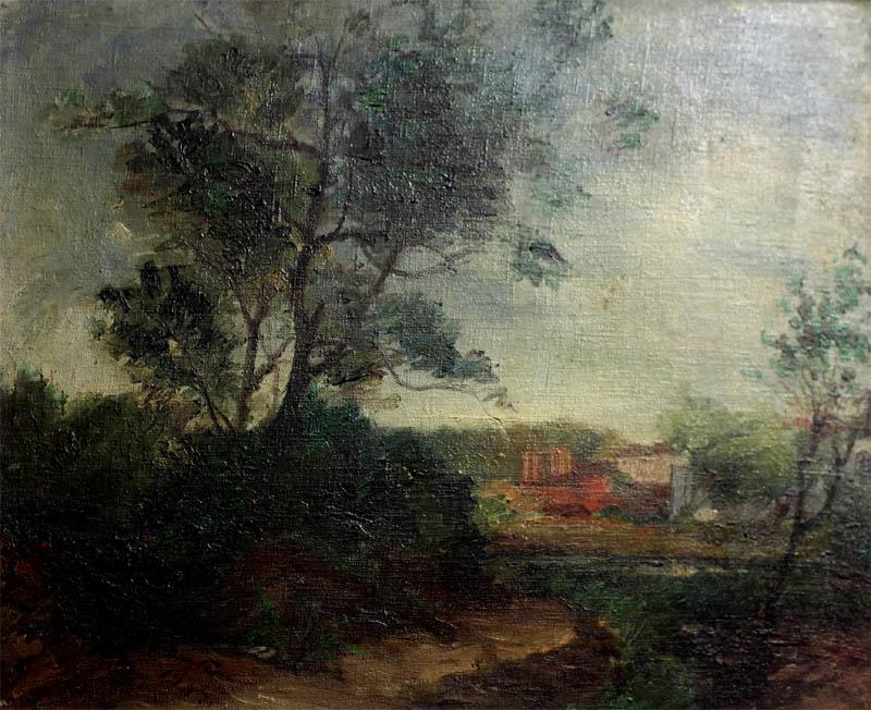 И.И. Якубени. Картина : Пейзаж. 1934. Х.М. 34х42