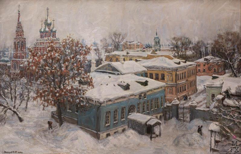 Е.Н. Зайцев. Картина : Двор.
