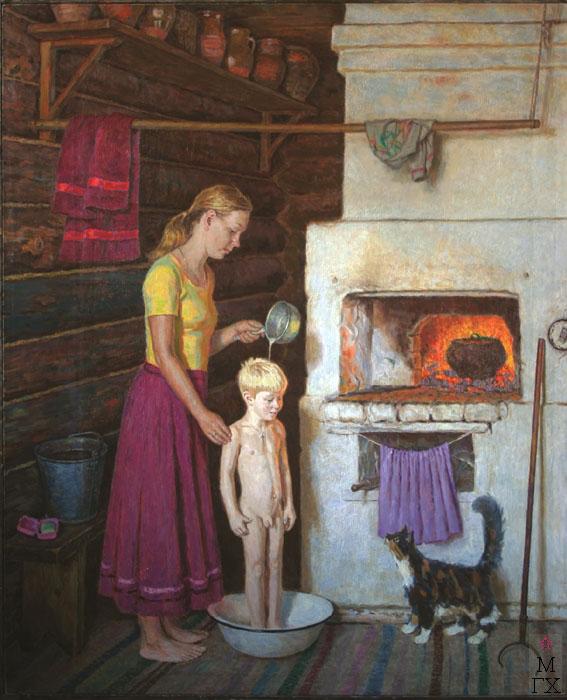 Е.Н. Зайцев. Картина : В старом доме