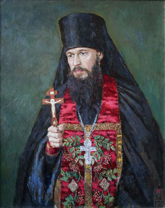 Е.Н. Зайцев. Картина : Отец Варсануфий. 1998. Х.М. 80х66