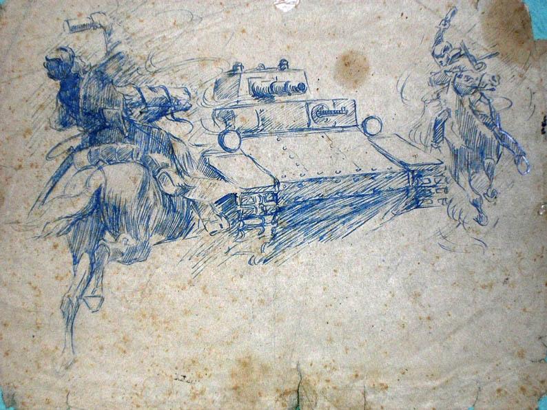 Марк Домащенко. Картина : Атакуют танк