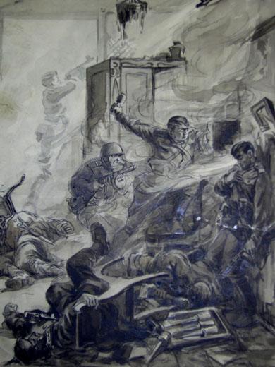 Марк Домащенко. Картина : Бой в Керчи